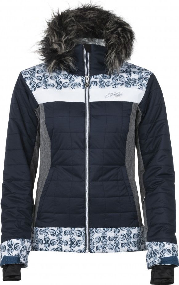 Dámská lyžařská bunda KILPI LEDA-W Tmavě modrá 18 Barva: Modrá, Velikost: 38