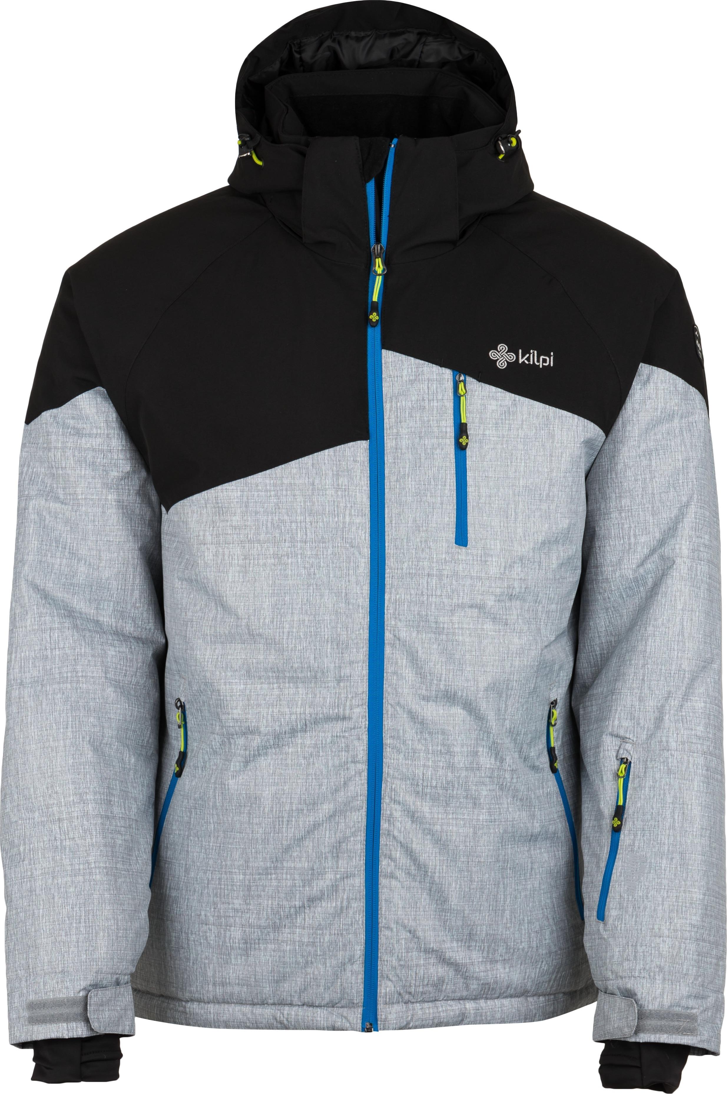 Pánská lyžařská bunda KILPI OLIVER-M světle šedá 18 Barva: Šedá, Velikost: L