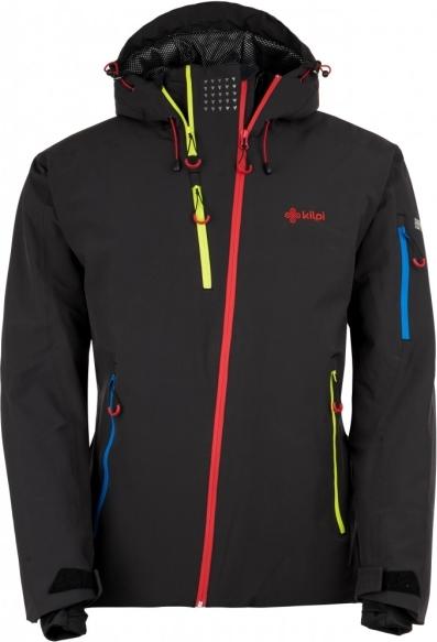 Pánská zimní technická bunda KILPI ASIMETRIX-M Černá 18 Barva: Černá, Velikost: 3XL