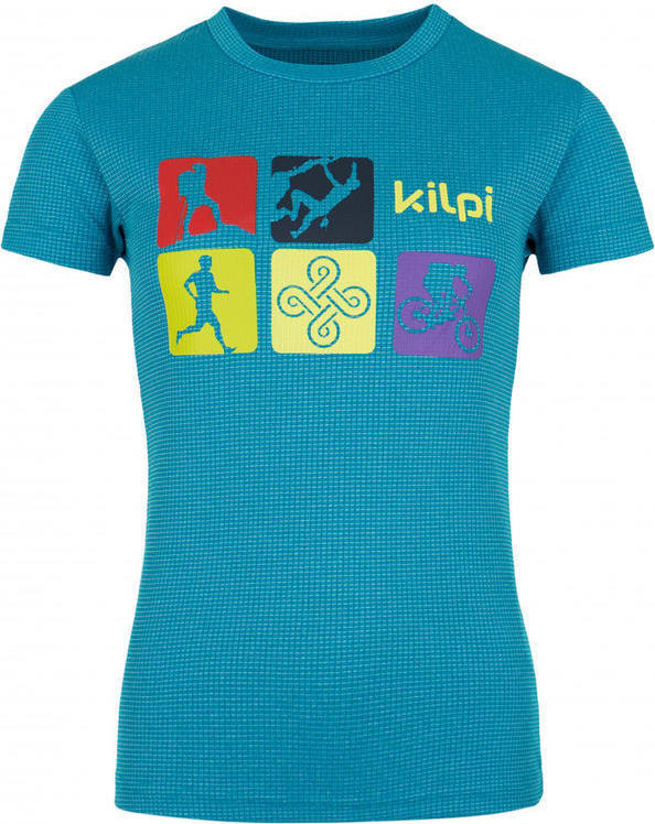 Dámské funkční tričko SANDORA-W KILPI Modrá Barva: Modrá, Velikost: 38
