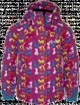 Dívčí lyžařská bunda KILPI AINO-K Potisk Barva: Růžová, Velikost: 98_104