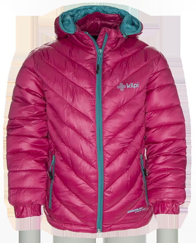 Dívčí zimní streetová bunda KILPI BRASKI-K Růžová Barva: Růžová, Velikost: 98_104