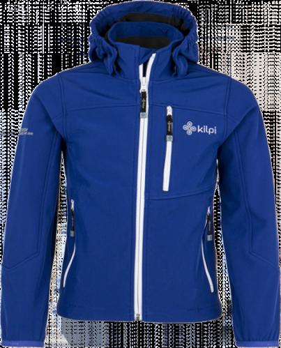 Chlapecká softshellová bunda KILPI ELIO-JB Modrá Barva: Modrá, Velikost: 98_104