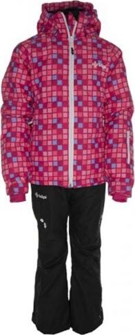 DĚTSKÝ DÍVČÍ LYŽAŘSKÝ SET KILPI - bunda a kalhoty HILMA-SKI SET-K Růžová Barva: Růžová, Velikost: 98_104