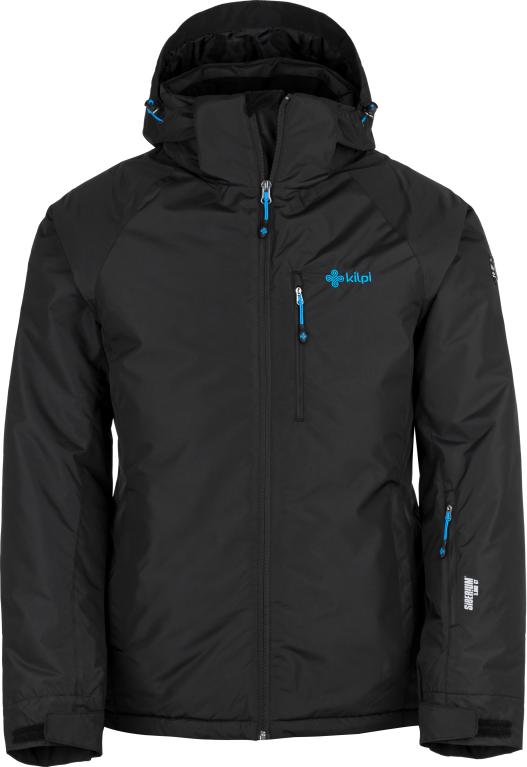 Pánská lyžařská bunda KILPI CHIP-M Černá 18 Barva: Černá, Velikost: XXL