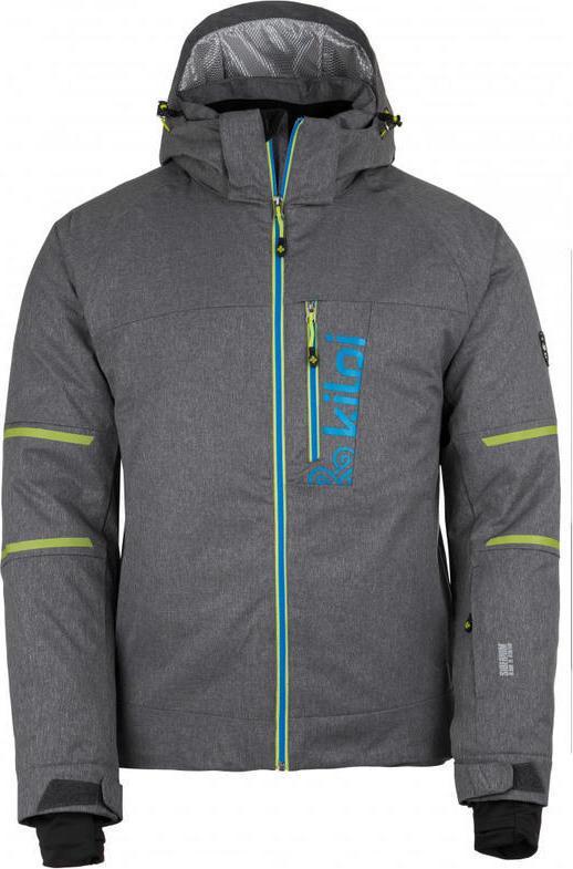 Pánská lyžařská bunda KILPI URAN-M Tmavě šedá Barva: Šedá, Velikost: S