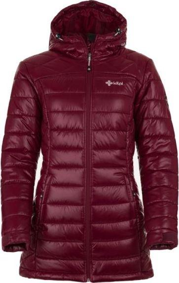 Dámský zimní kabát KILPI SYDNEY-W SYDNEY-W Červená 18 Barva: Červená, Velikost: 44