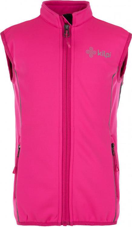 Dětská strečová vesta s páteřákem KILPI PROTEC-J Růžová Barva: Růžová, Velikost: 152