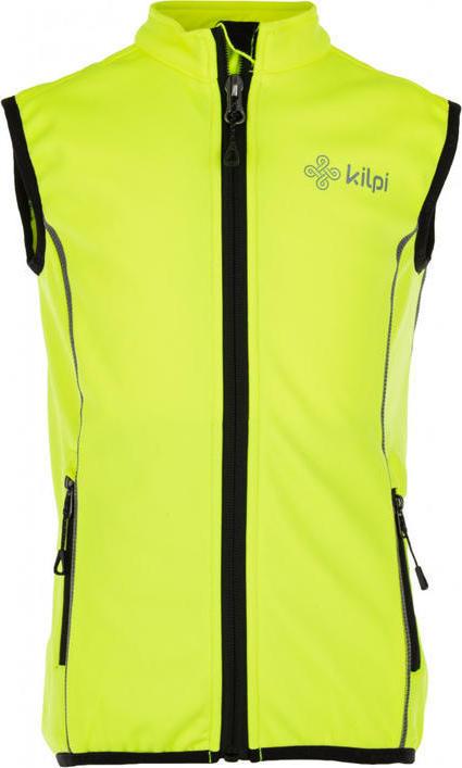 Dětská strečová vesta s páteřákem KILPI PROTEC-J Žlutá Barva: Žlutá, Velikost: 146