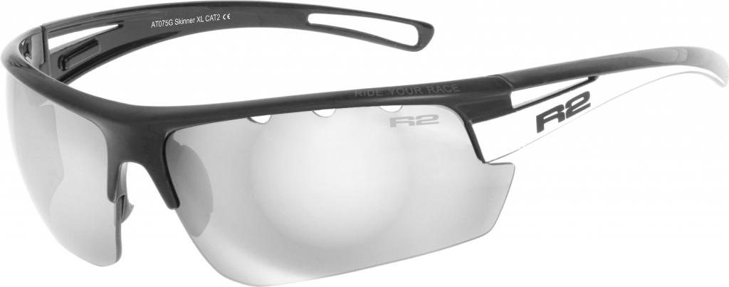 Sportovní sluneční brýle R2 SKINNER XL AT075G černá, bílá lesklá Barva: Černá, Velikost: XL