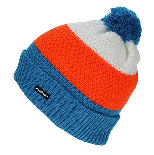 Zimní pletená čepice Relax RKH59B modrá / oranžová / bílá