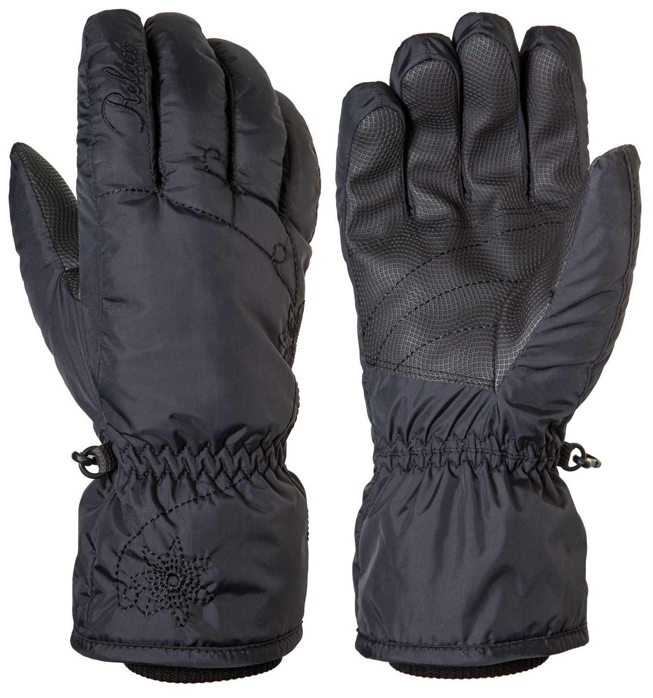 Dámské lyžařské rukavice Relax CHAINY RR14C Barva: Černá, Velikost: L