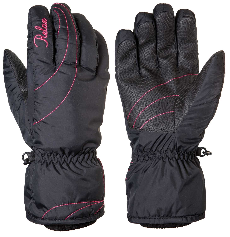 Dámské lyžařské rukavice Relax CHAINY RR14A Barva: Černá, Velikost: L