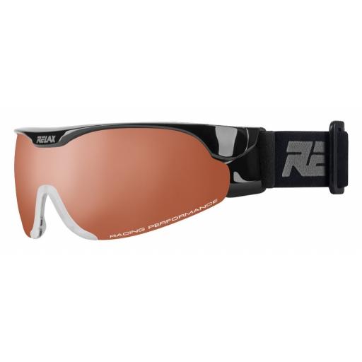 Lyžařské brýle Relax CROSS HTG34G lesklá černá 18 Barva: Černá, Velikost: UNI
