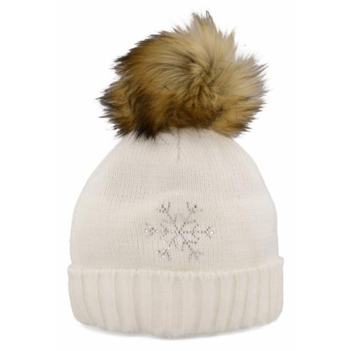 Dámská zimní čepice Relax RKH107B FLAKE Bílá