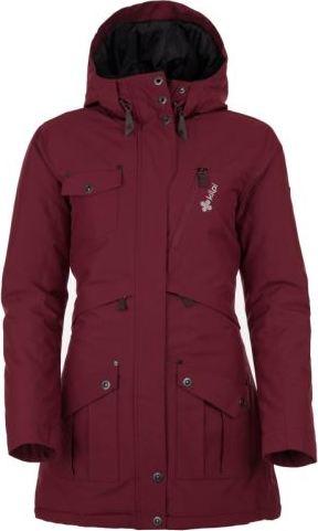 Dámský zimní kabát KILPI BRASIL-W Červená Barva: Červená, Velikost: 38