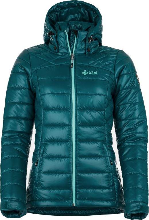 Dámská zimní bunda KILPI GIRONA-W Modrá Barva: Modrá, Velikost: 36