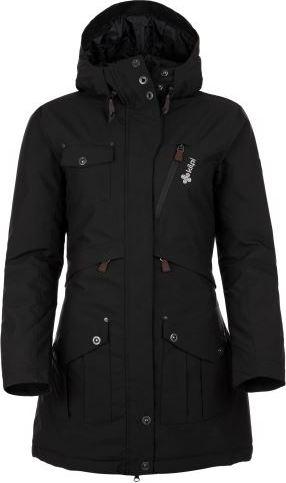 Dámský zimní kabát KILPI BRASIL-W Černá Barva: Černá, Velikost: 44