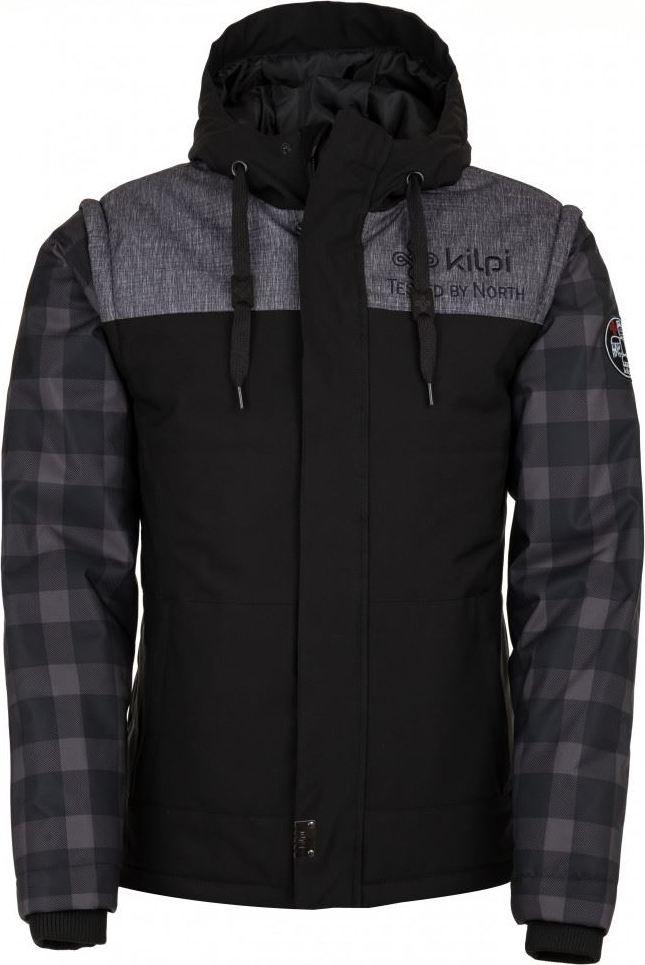 Pánská zimní bunda KILPI KIWI-M Černá Barva: Černá, Velikost: XXL