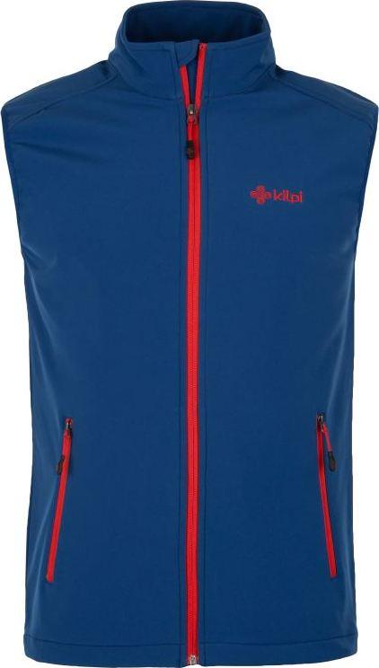 Pánská třísezónní softshellová vesta TOFANA-M KILPI Tmavě modrá Barva: Modrá, Velikost: 3XL