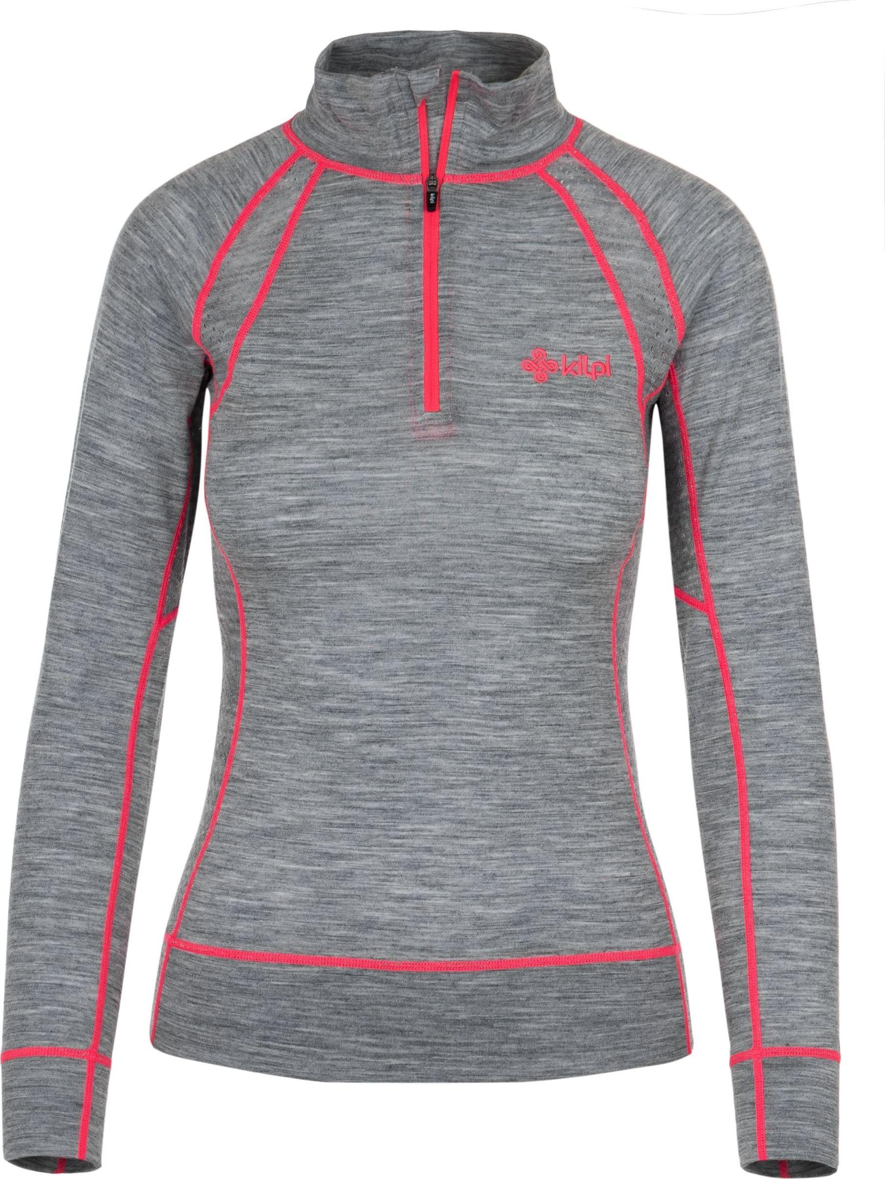 Dámské funkční termo tričko KILPI JAGER-W Tmavě šedá Barva: Šedá, Velikost: 36