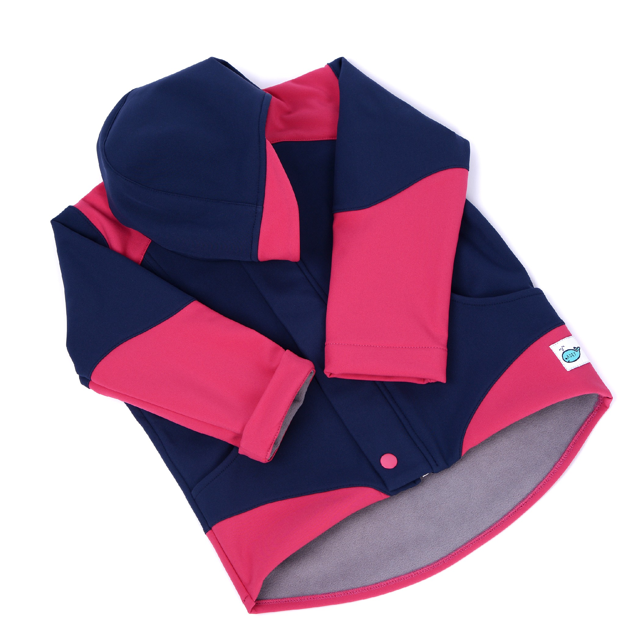 Dětská softshellová bunda ADRY Modrá/ružová Barva: Růžová, Velikost: 134