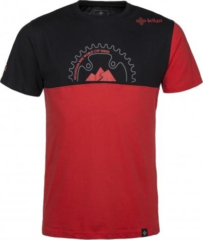 Pánské bavlněné tričko KILPI BIKEMAN-M Červená Barva: Červená, Velikost: L