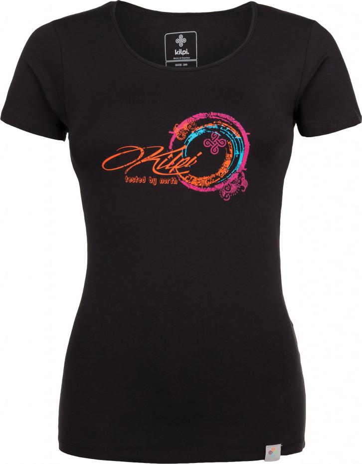 Dámské bavlněné tričko KILPI BUBBLE-W Černá Barva: Černá, Velikost: 42