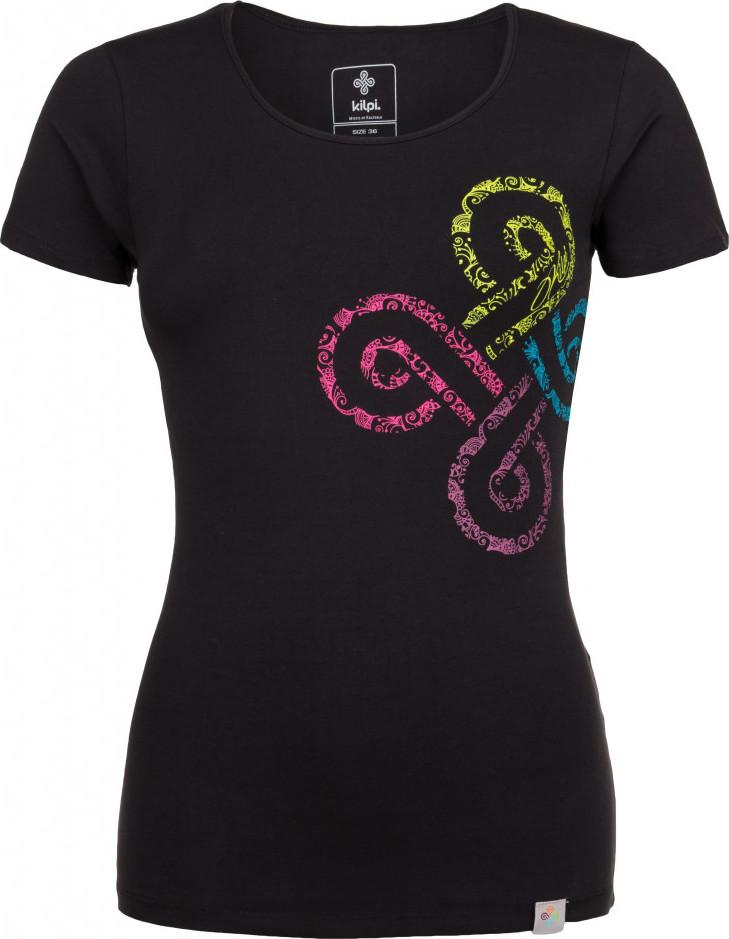 Dámské bavlněné tričko KILPI KA-W Černá Barva: Černá, Velikost: 42