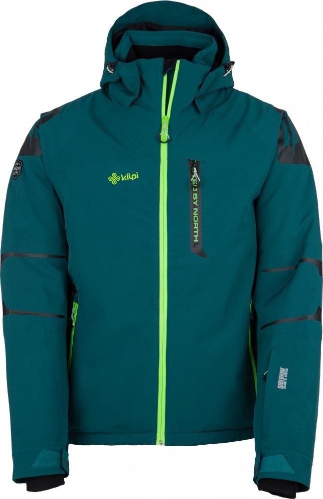 Pánská lyžařská bunda KILPI CARPO-M Tyrkysová Barva: Tyrkysová, Velikost: 3XL