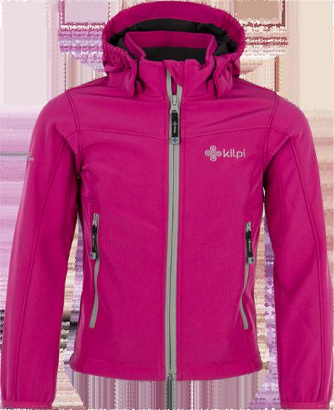 Dívčí softshellová bunda KILPI ELIA-JG Růžová Barva: Růžová, Velikost: 158