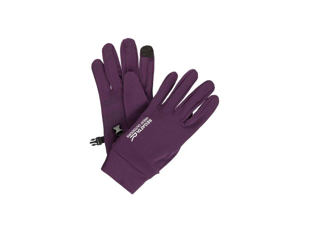 Dámske sofshellové rukavice Regatta RMG009 TOUCHTIP Stretch Fialová