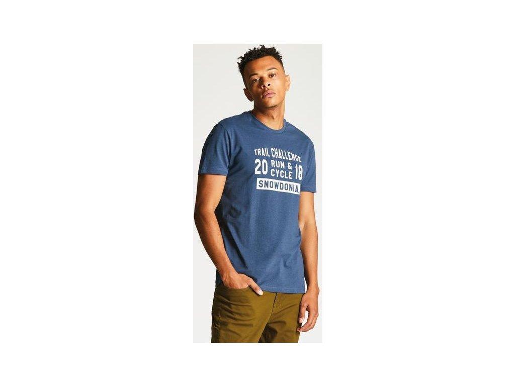 Pánske tričko Dare2B DMT419 RACEMAKER TEE Modrá