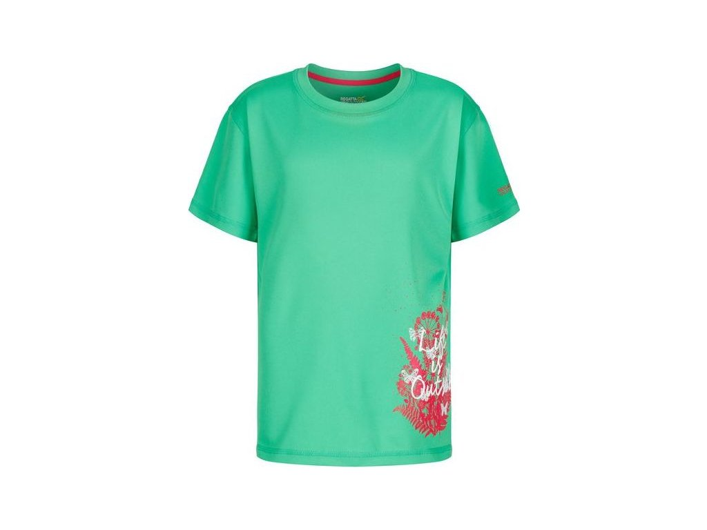 Dievčenské tričko Regatta RKT079 ALVARADO III Zelená