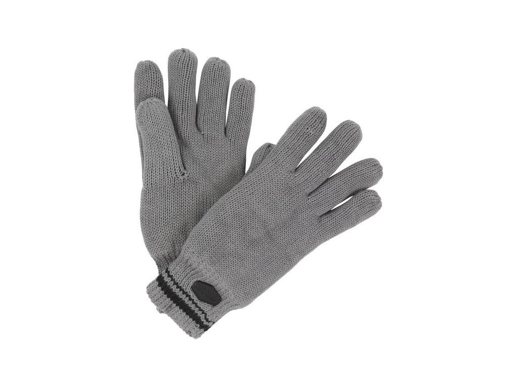 Pánske pletené rukavice Regatta RMG018 BALTON Glove Sivá