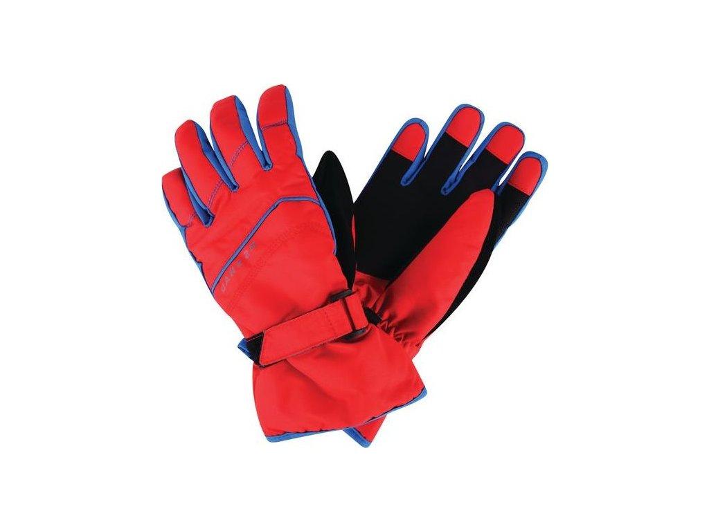 Detské lyžiarske rukavice Dare2B DBG306 FLAG DOWN II. Červená