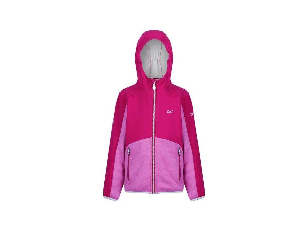 Detská softshellová bunda  REGATTA RKL090 Bracknell Ružová