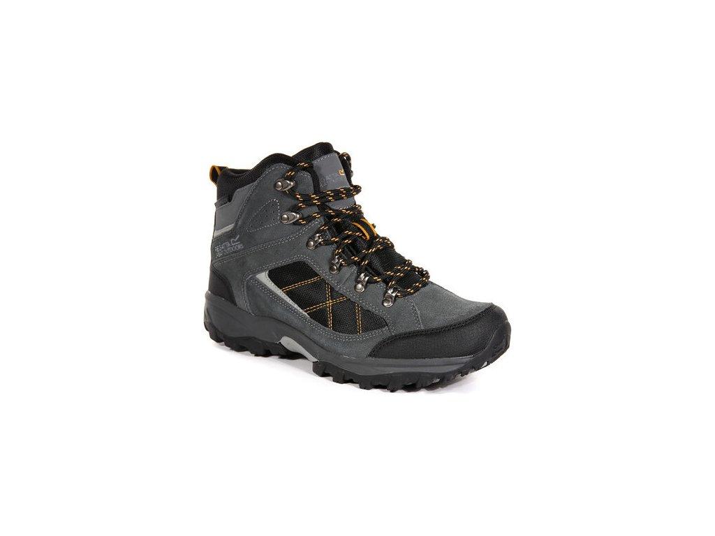 Pánske vysoké trekové topánky RMF485 Clydebank Sivé