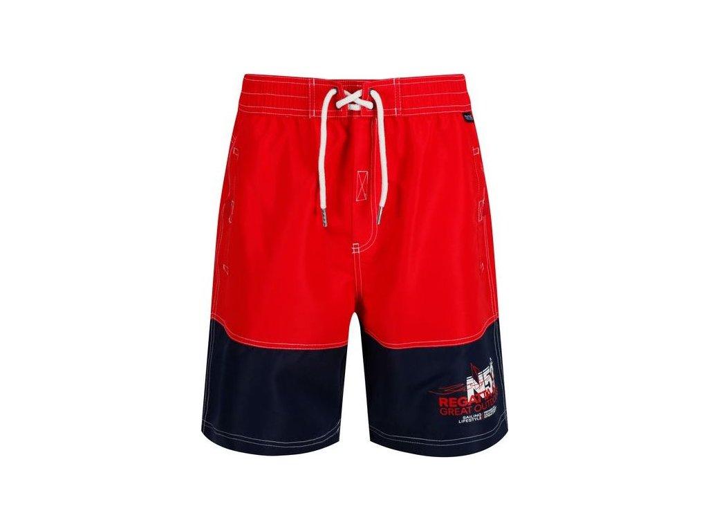 Športové plavky / šortky REGATTA RMM010 Bratchmar III Červené