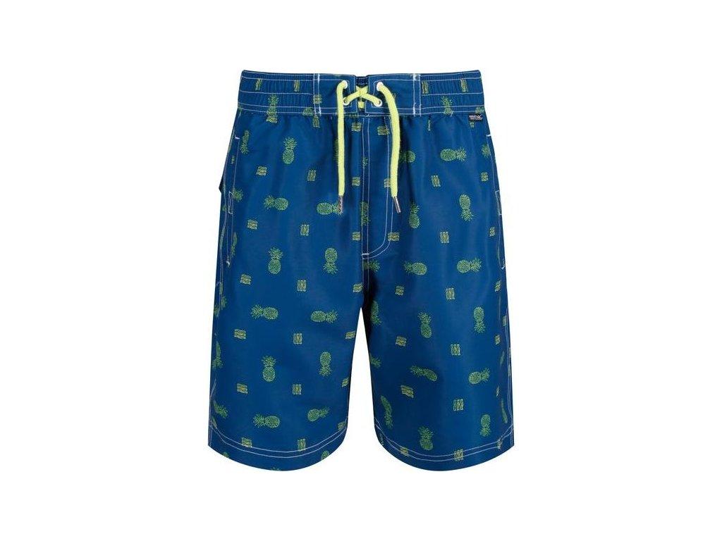 Pánske šortky / plavky REGATTA RM008  Hadden Board Short II Tyrkysové