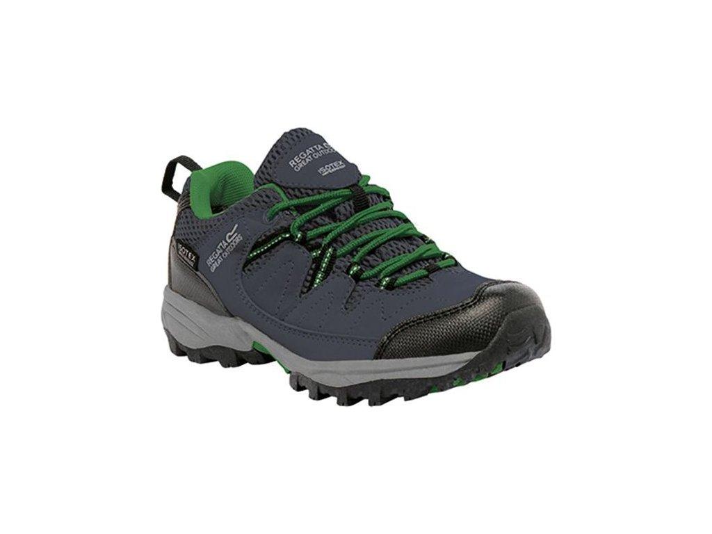 Detská trekingová obuv RKF449 REGATTA  Holcombe Low Sivá