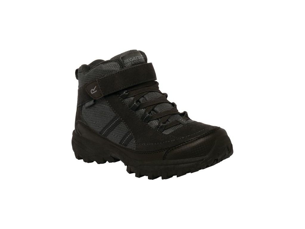 Detská trekingová obuv RKF511 REGATTA Trailspace II Mid Čierna
