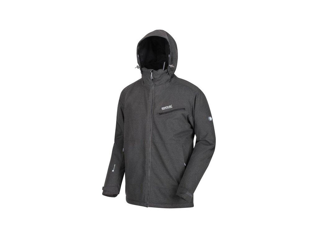 Pánska zimná bunda REGATTA RMP273 Highside IV Tmavo sivá