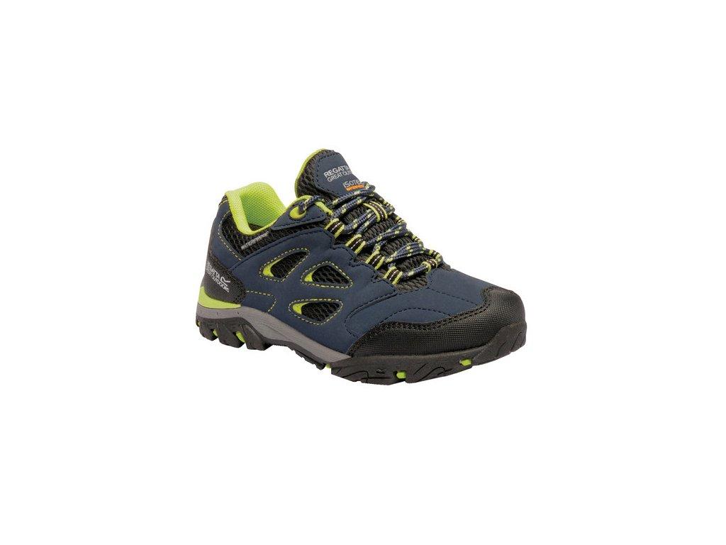 Detská trekingová obuv RKF572 REGATTA Holcombe Low Jnr II Modrá