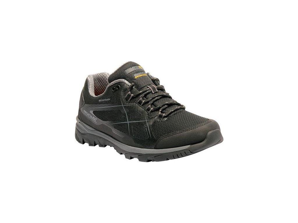 Pánska treková obuv RMF489 REGATTa Kota Low Čierna