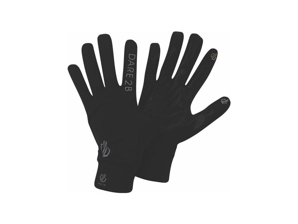 Ľahké športové rukavice DUG314 DARE2B Cogent Čierne