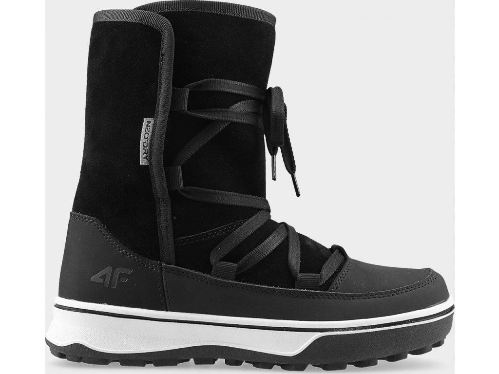 Dámske zimné topánky 4F OBDH201 Čierne