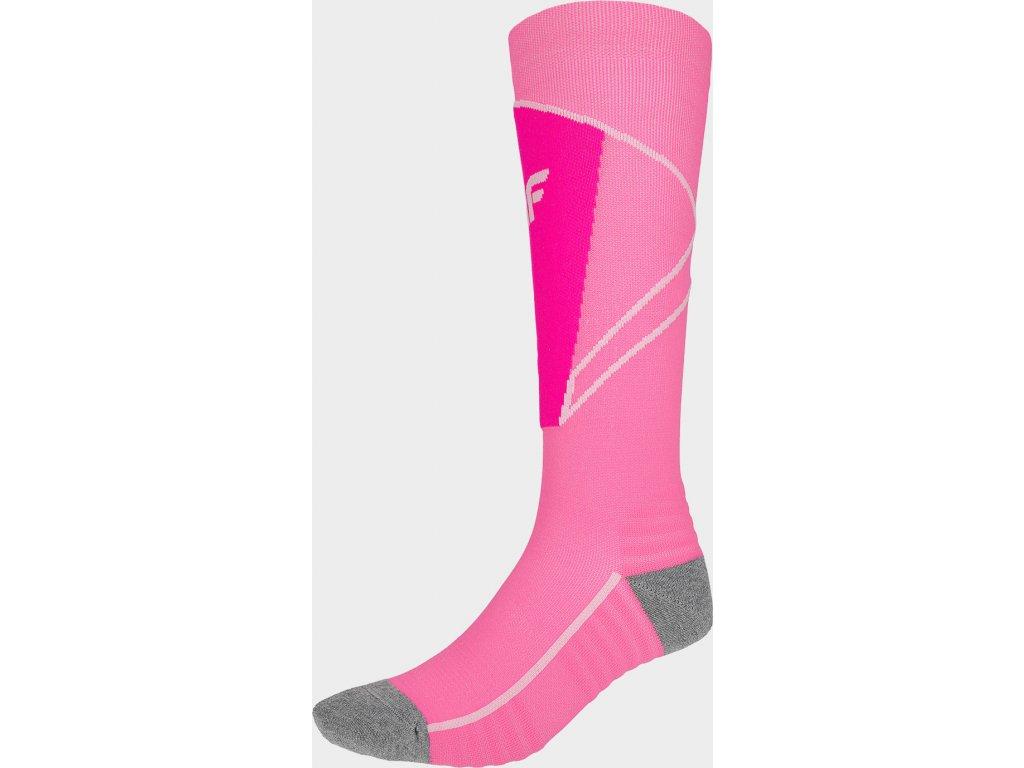 Dámske lyžiarske ponožky 4F SODN200 Ružové