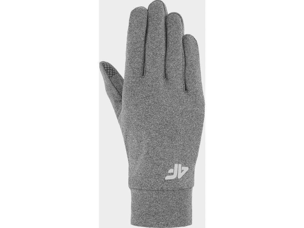 Běžecké rukavice 4F REU212  Šedé