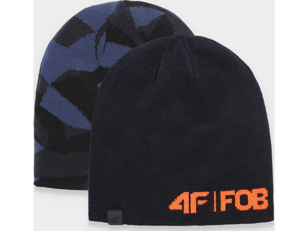 Pánska oboustranná čiapka 4F CAM155 Modrá